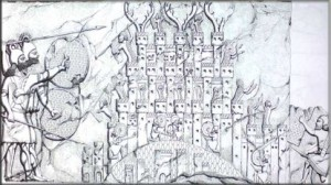 تابلۆی-داگیرکرنی-شاریکی-کوردستان٢٧٣٠-ساڵ-لەمەوبەر.