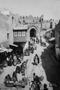 Street-scene-inside-Damascus-Gate.-Jerusalem-Palestine.-1900-1920