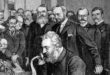 Alexander Graham Bell at inauguration of long-distance telephone line
