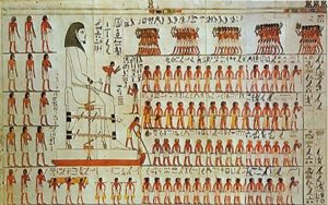 175201413133Wall painting from the tomb of Djehutihotep