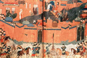 A-14th-century-Persian-depiction-of-the-February-1258-sack-of-Baghdad.